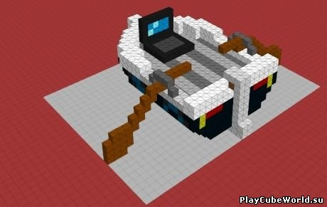 Мод Laptop Boat для Cube World